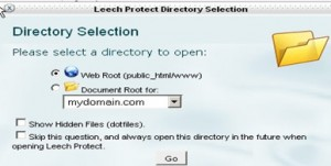 Leech Protect Directory Selection window