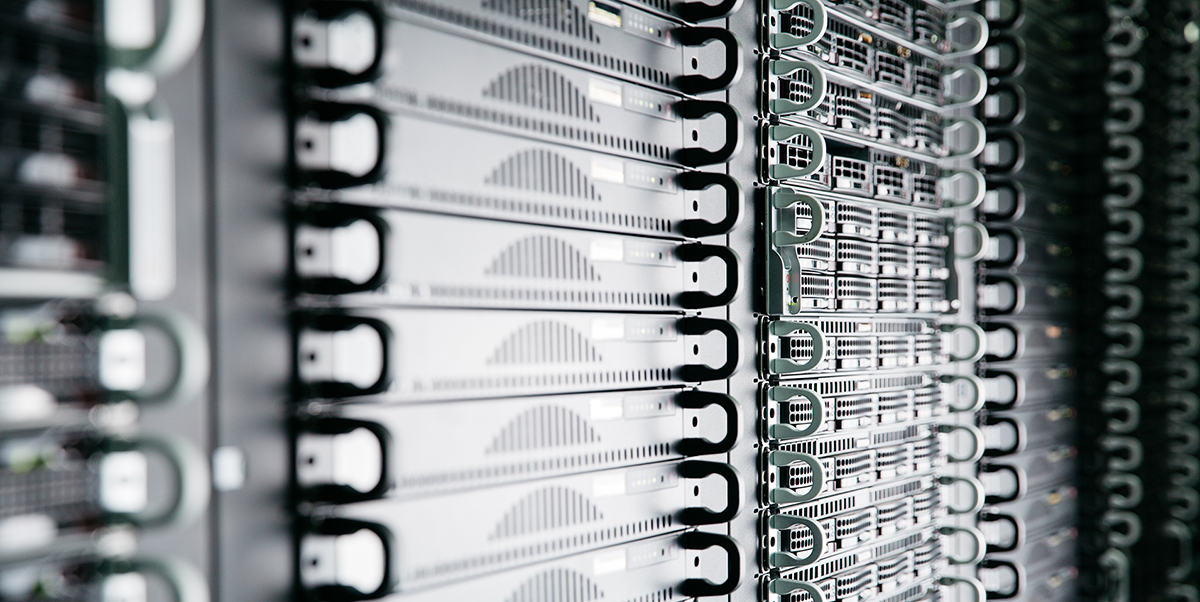 Stacks of bare metal dedicated servers