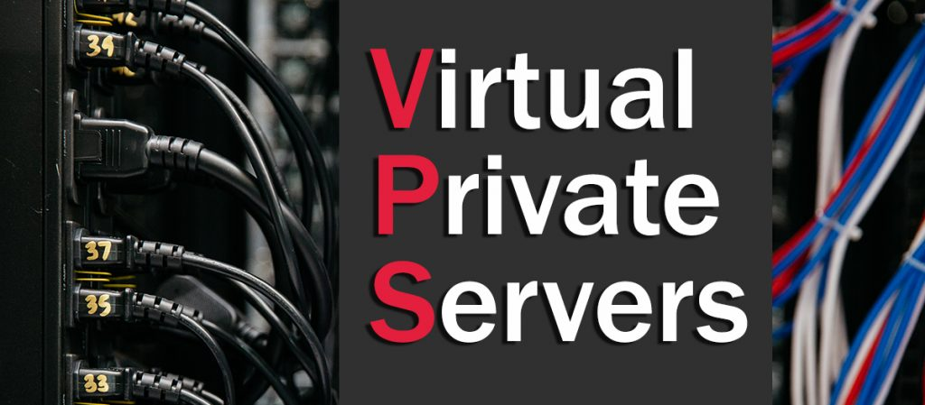 "A series of cables with the words ""Virtual Private Servers"""