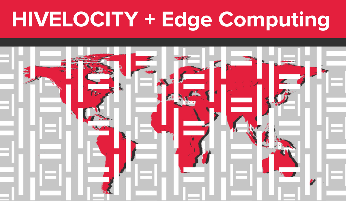 "Title image showing a map of the world and the text ""Hivelocity + Edge Computing"""