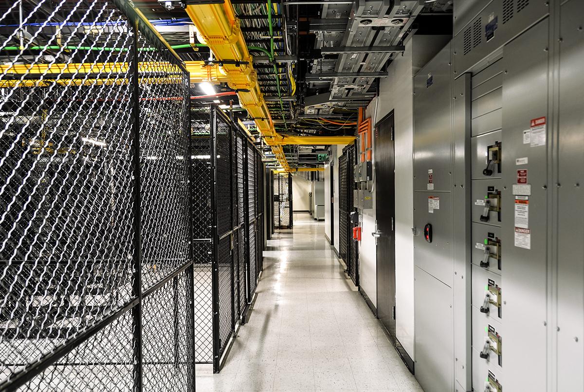 Interior of a Hivelocity data center