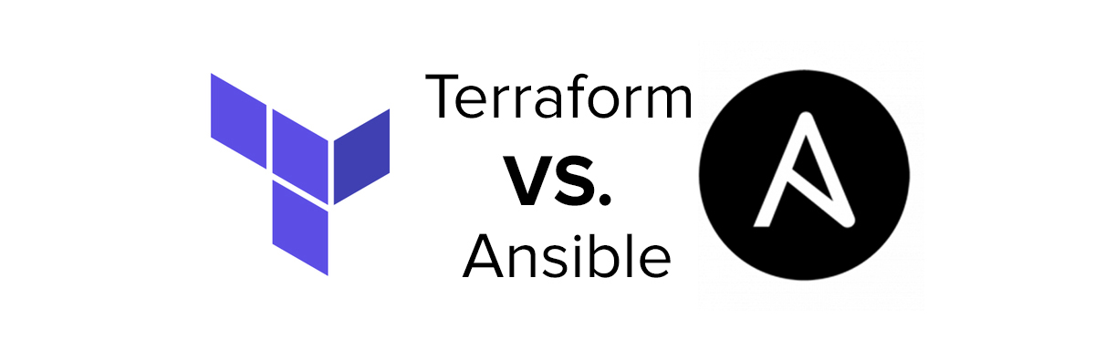 "Terraform and Ansible logos with the text ""Terraform VS. Ansible"""