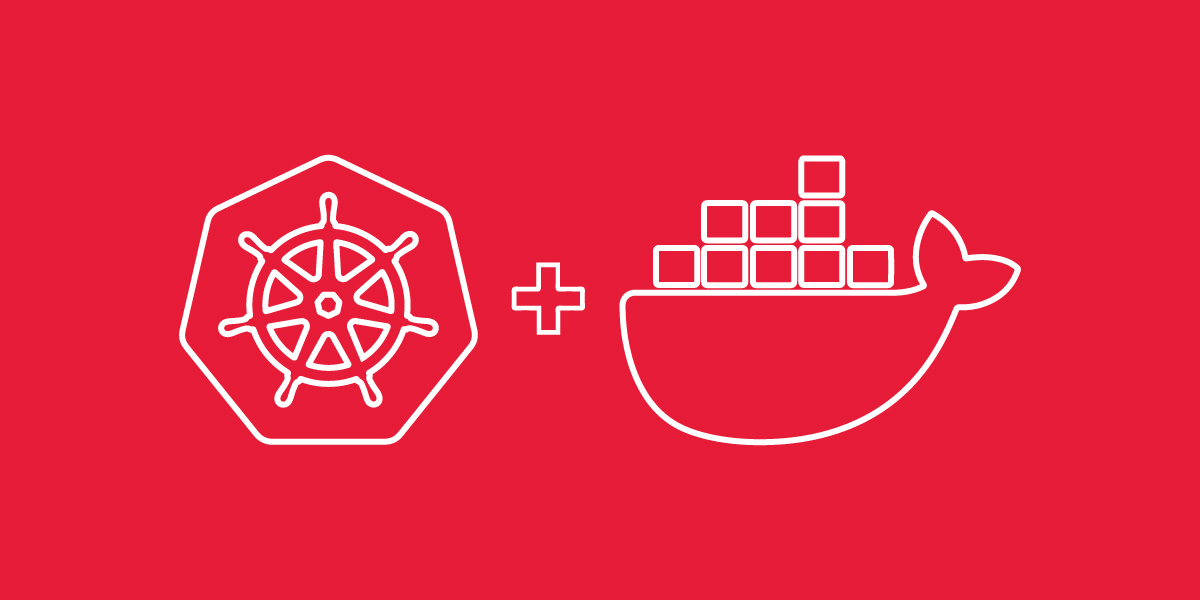 An image showing the logos for Kubernetes and Docker